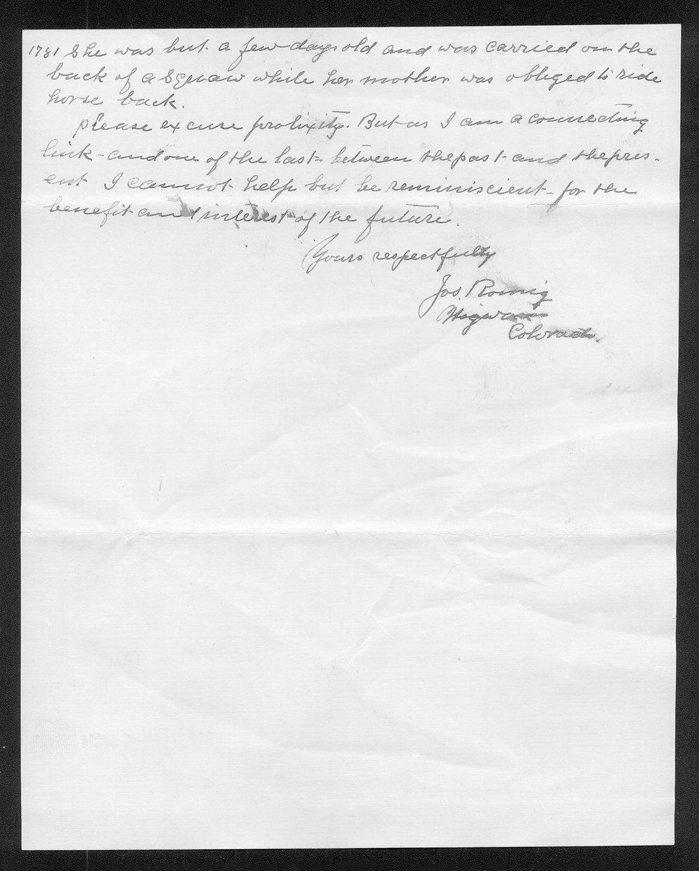 Joseph Romig to George W. Martin - 5