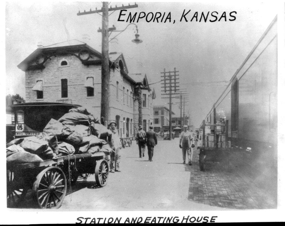 Atchison Topeka and Santa Fe Railway Company depot, Emporia, Kansas