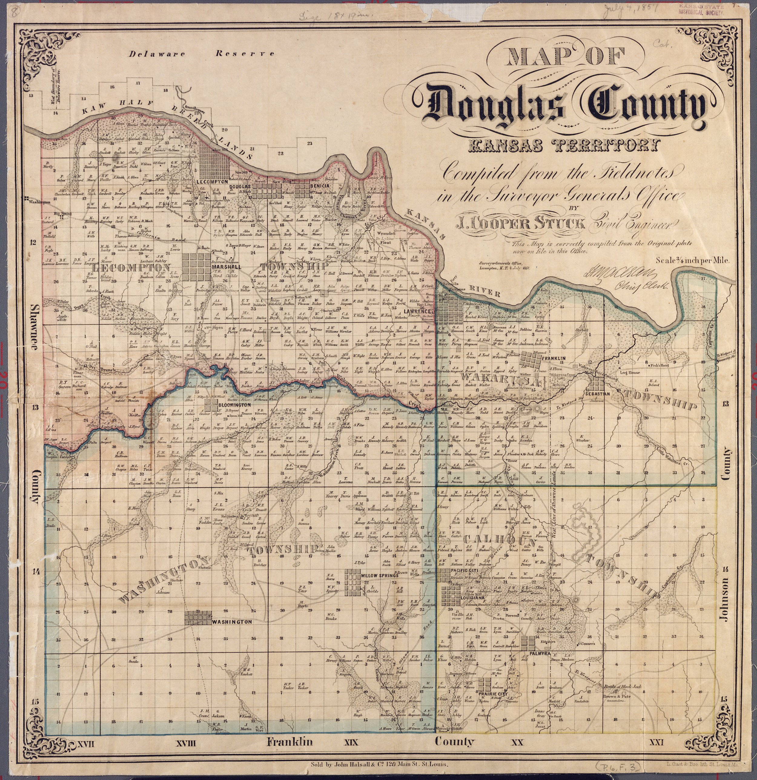 Douglas County Property Map Kansas