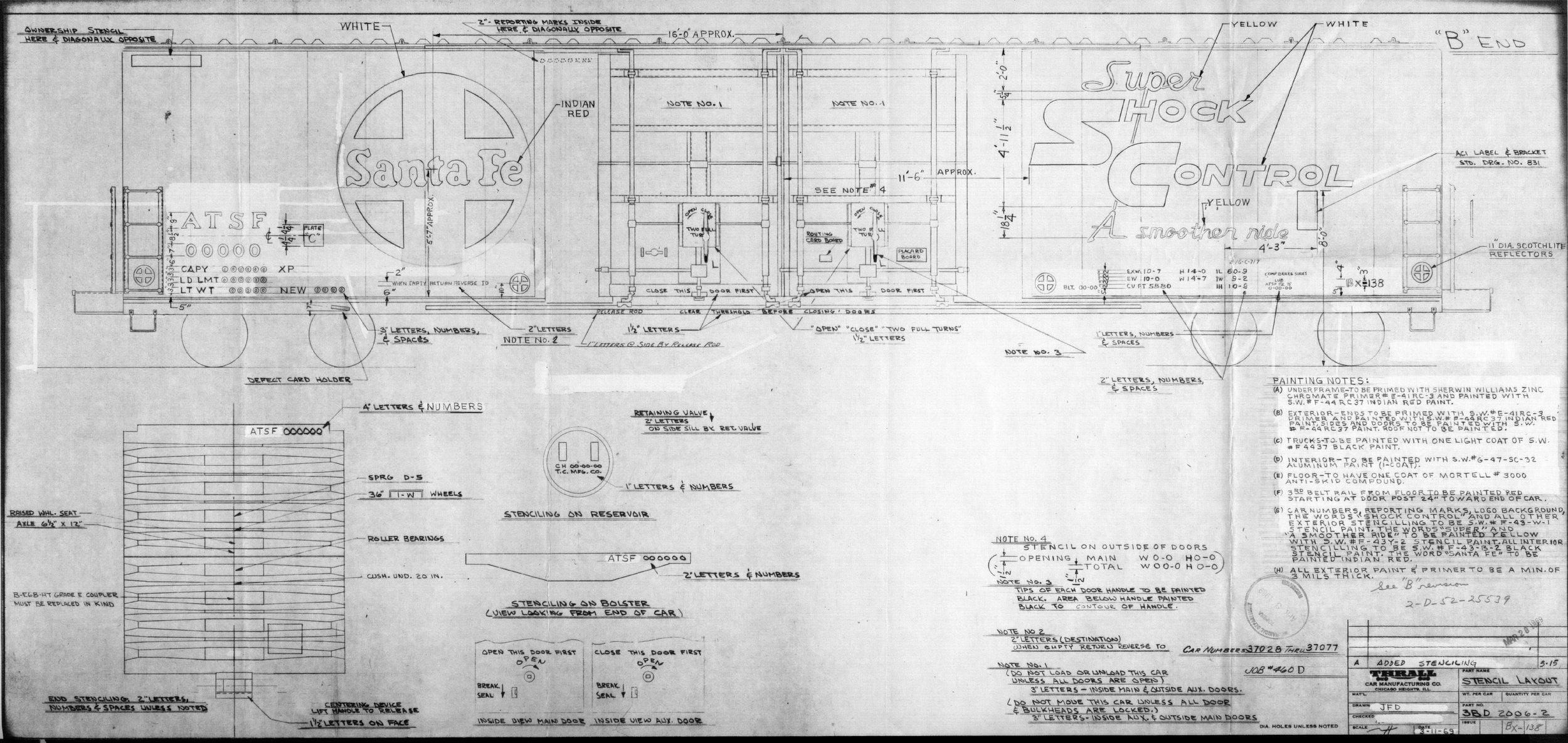 Atchison, Topeka & Santa Fe Railway Company boxcar