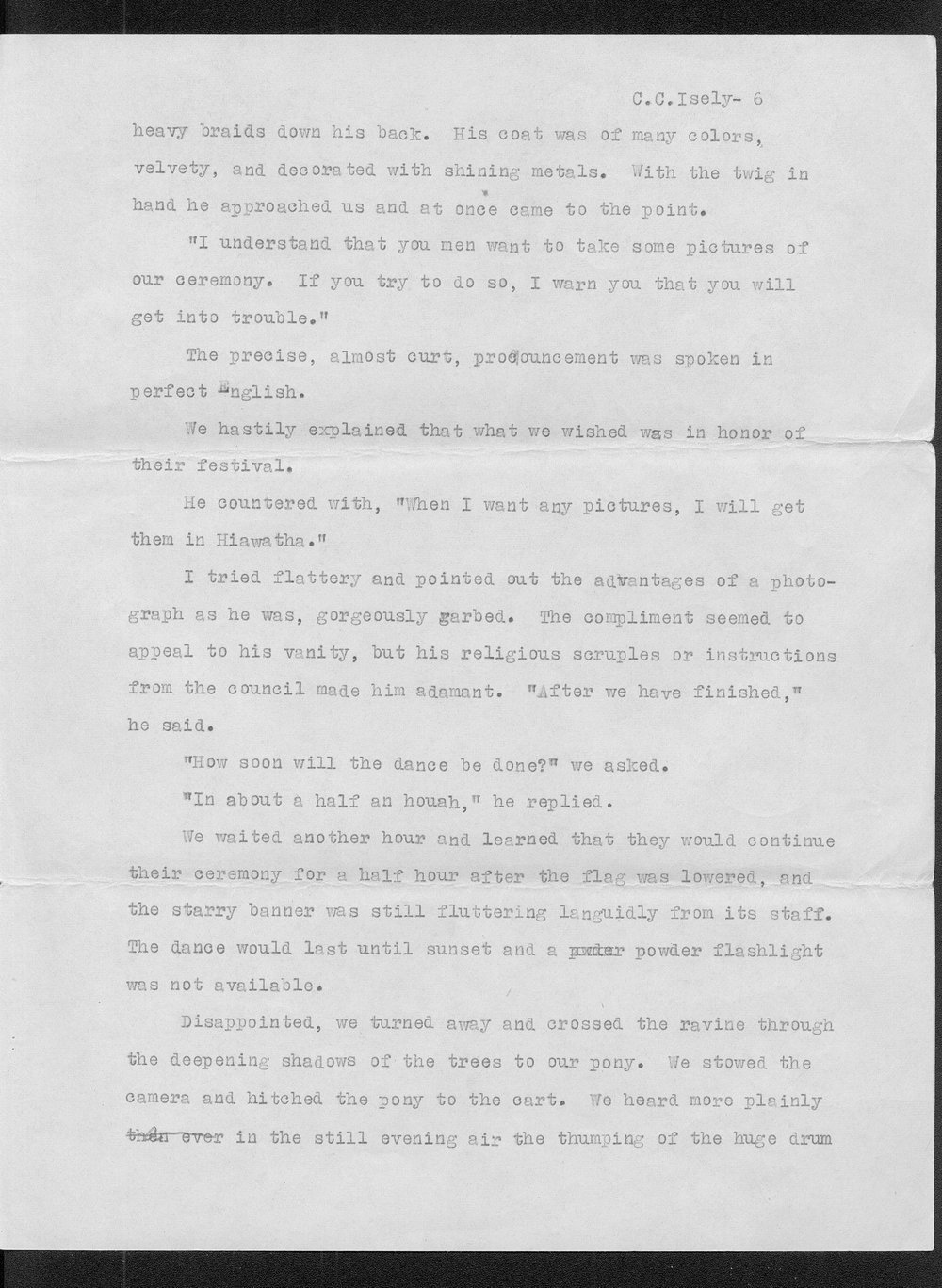 C.C. Isley to Reverend W.C. McGuire, and accompanying manuscript - 7