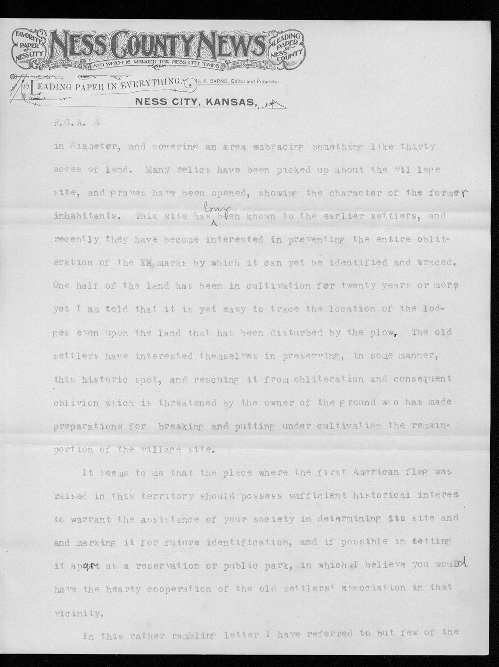 J.K. Barnd to Franklin G. Adams - 3