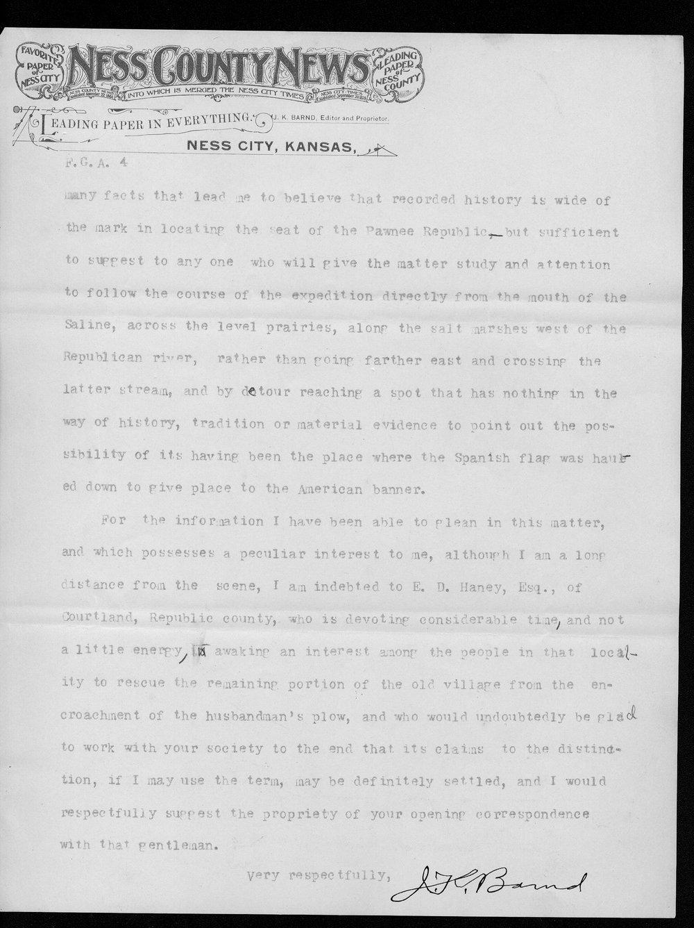 J.K. Barnd to Franklin G. Adams - 4