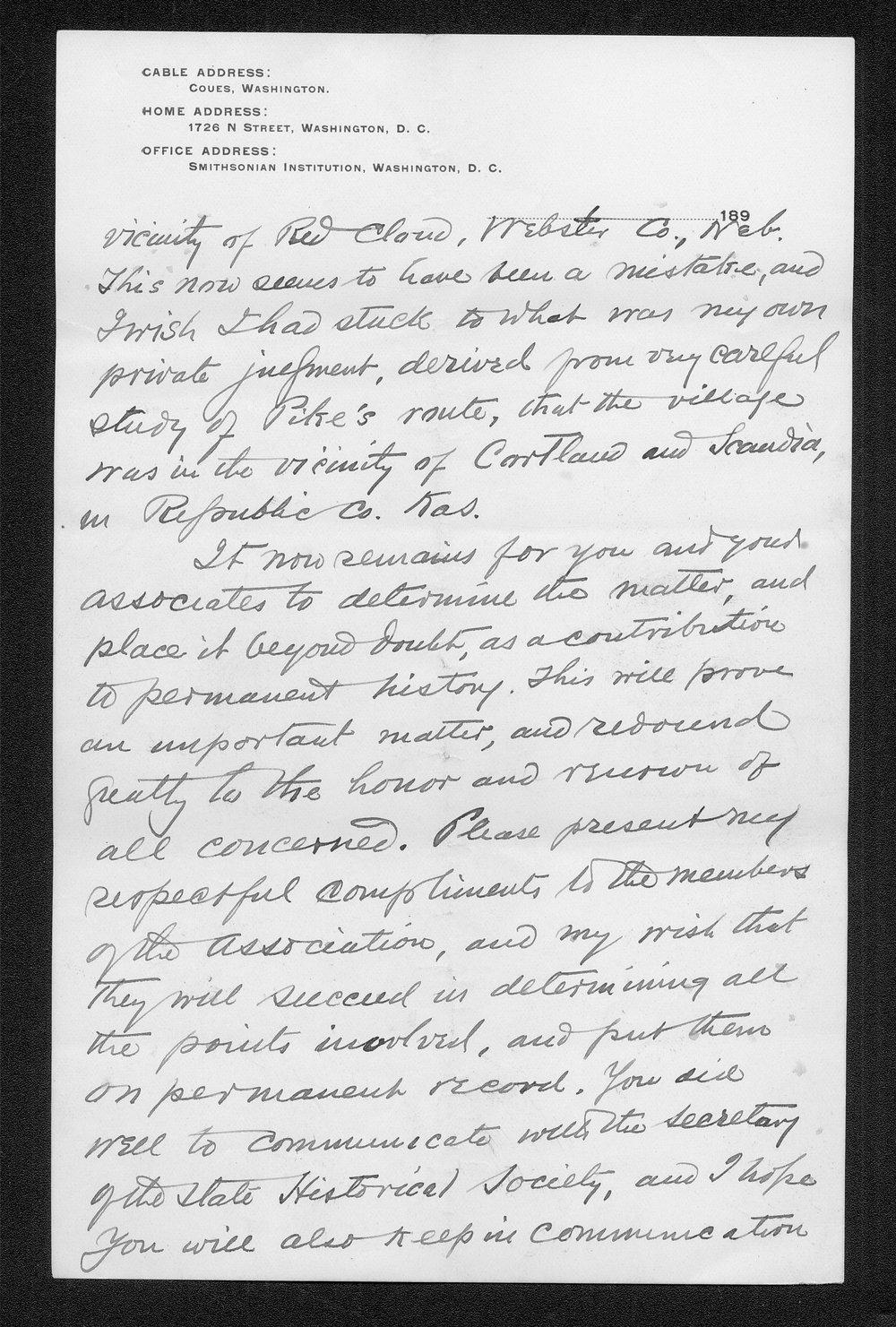 Zebulon Pike trip and Pawnee Indian Village correspondence - 2