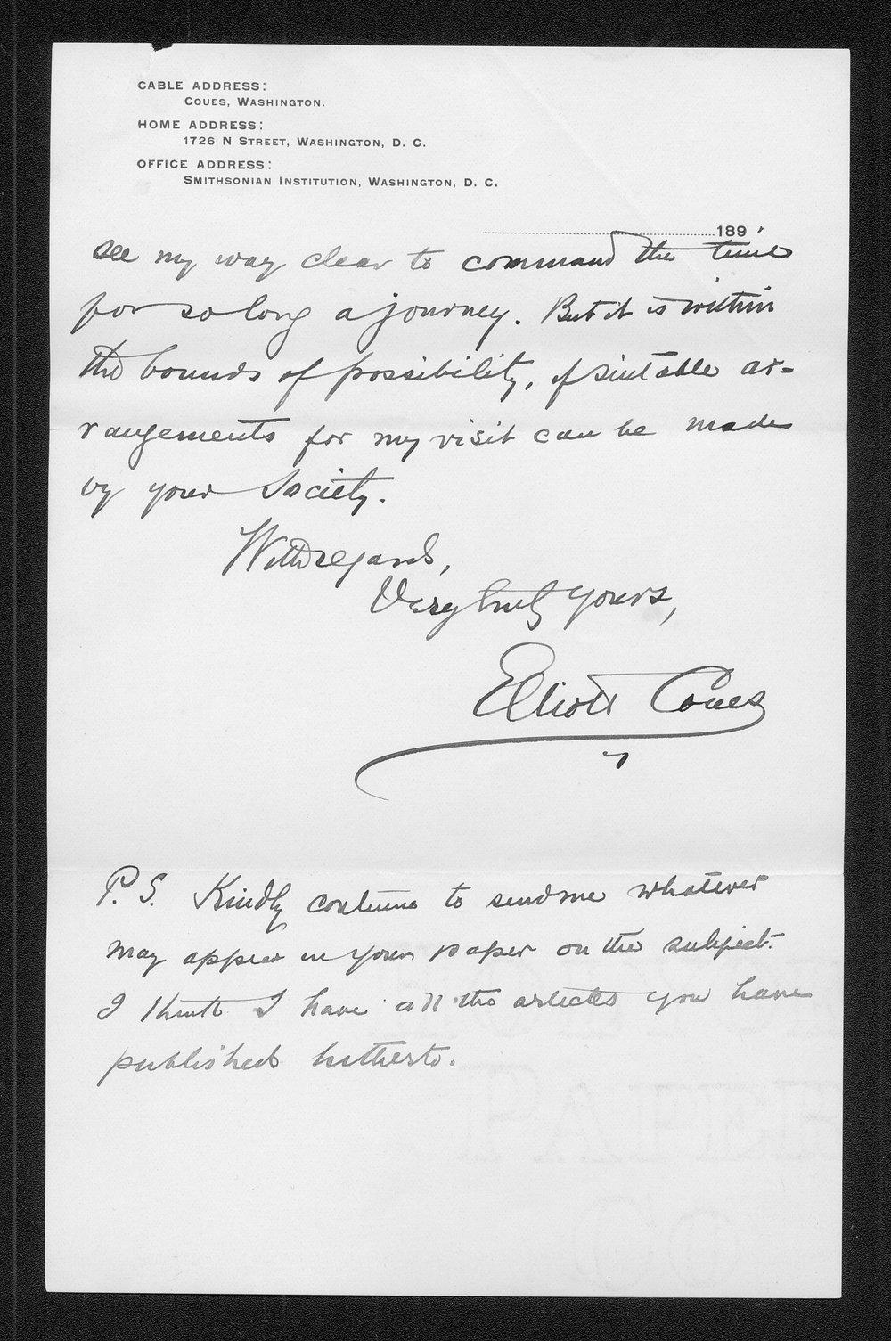 Zebulon Pike trip and Pawnee Indian Village correspondence - 8