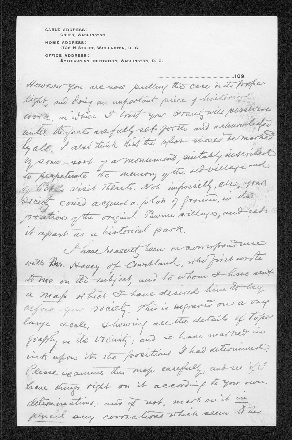 Zebulon Pike trip and Pawnee Indian Village correspondence - 10
