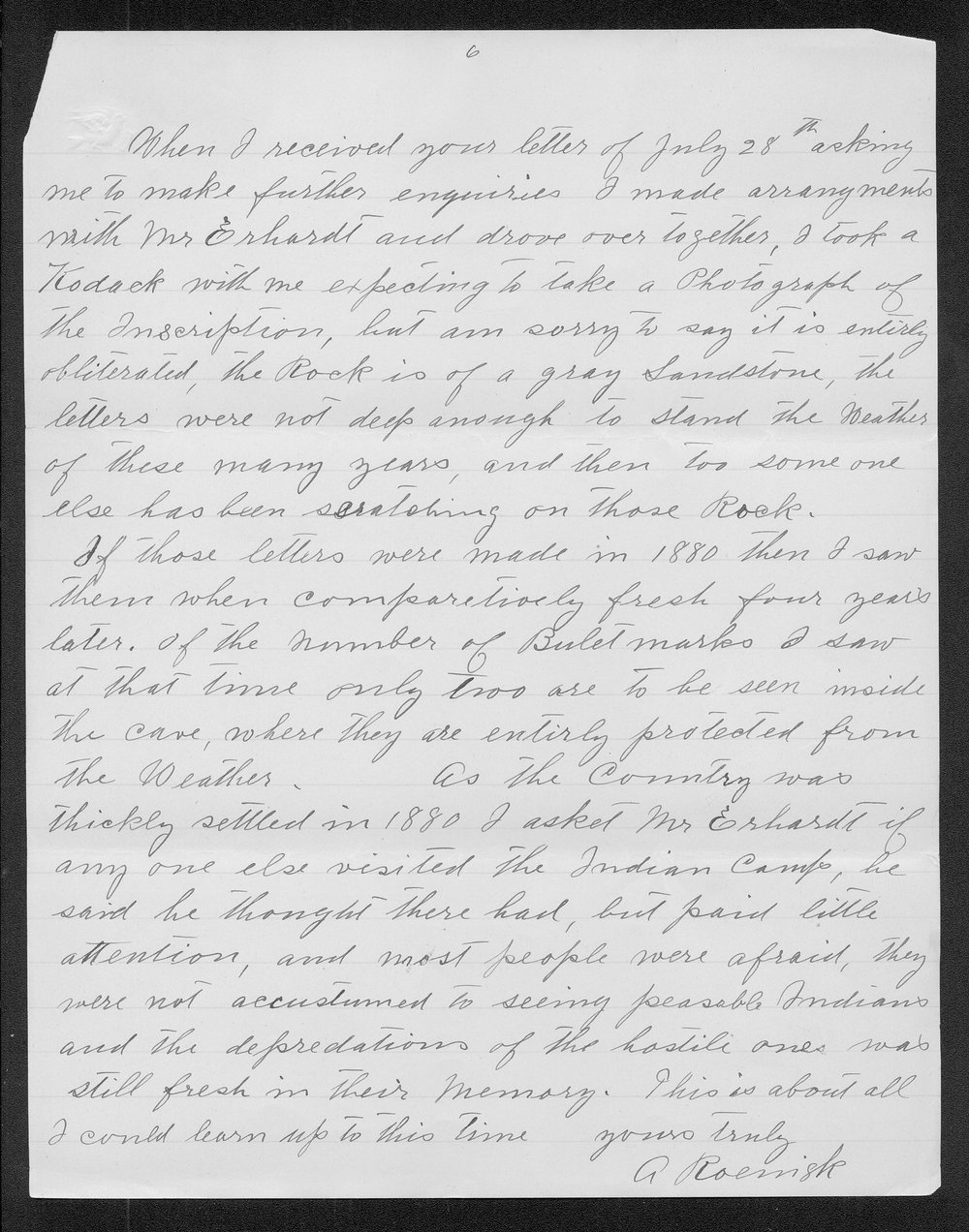 Adolph Roenigk and George W. Martin correspondence - 6