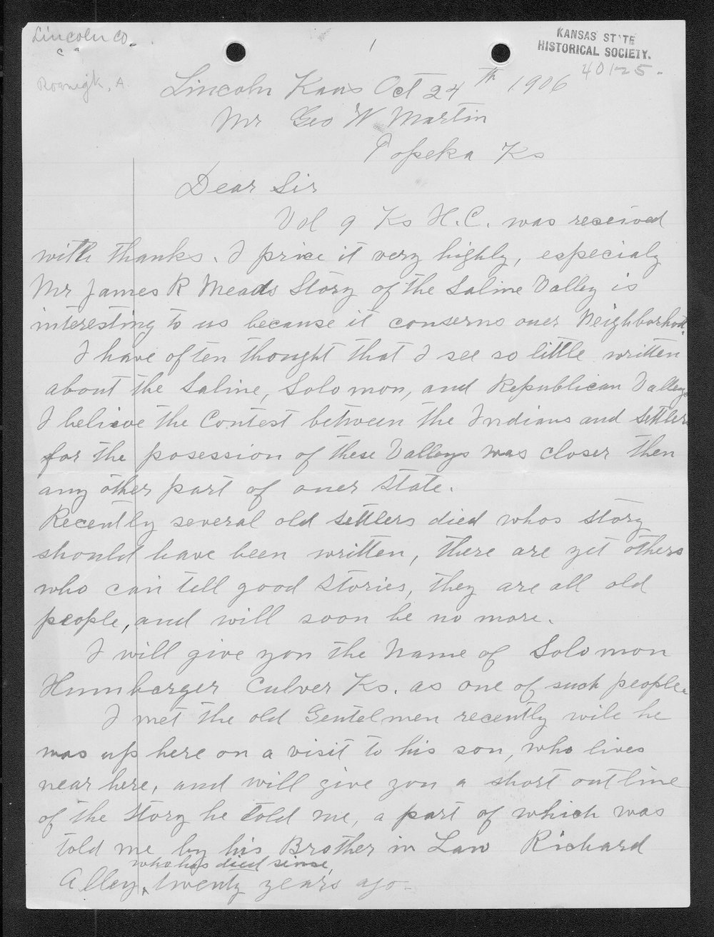 Adolph Roenigk and George W. Martin correspondence - 8