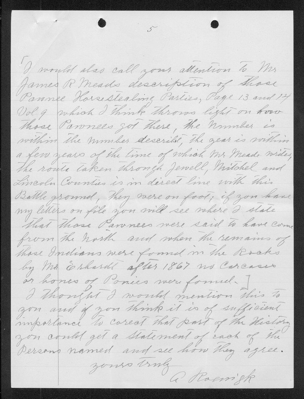 Adolph Roenigk and George W. Martin correspondence - 12