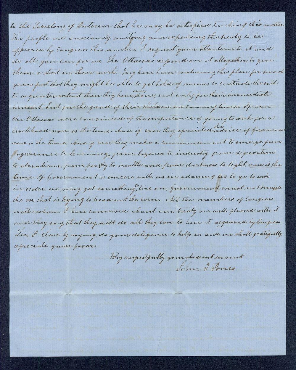 John J. Davies to General James William Denver - 2