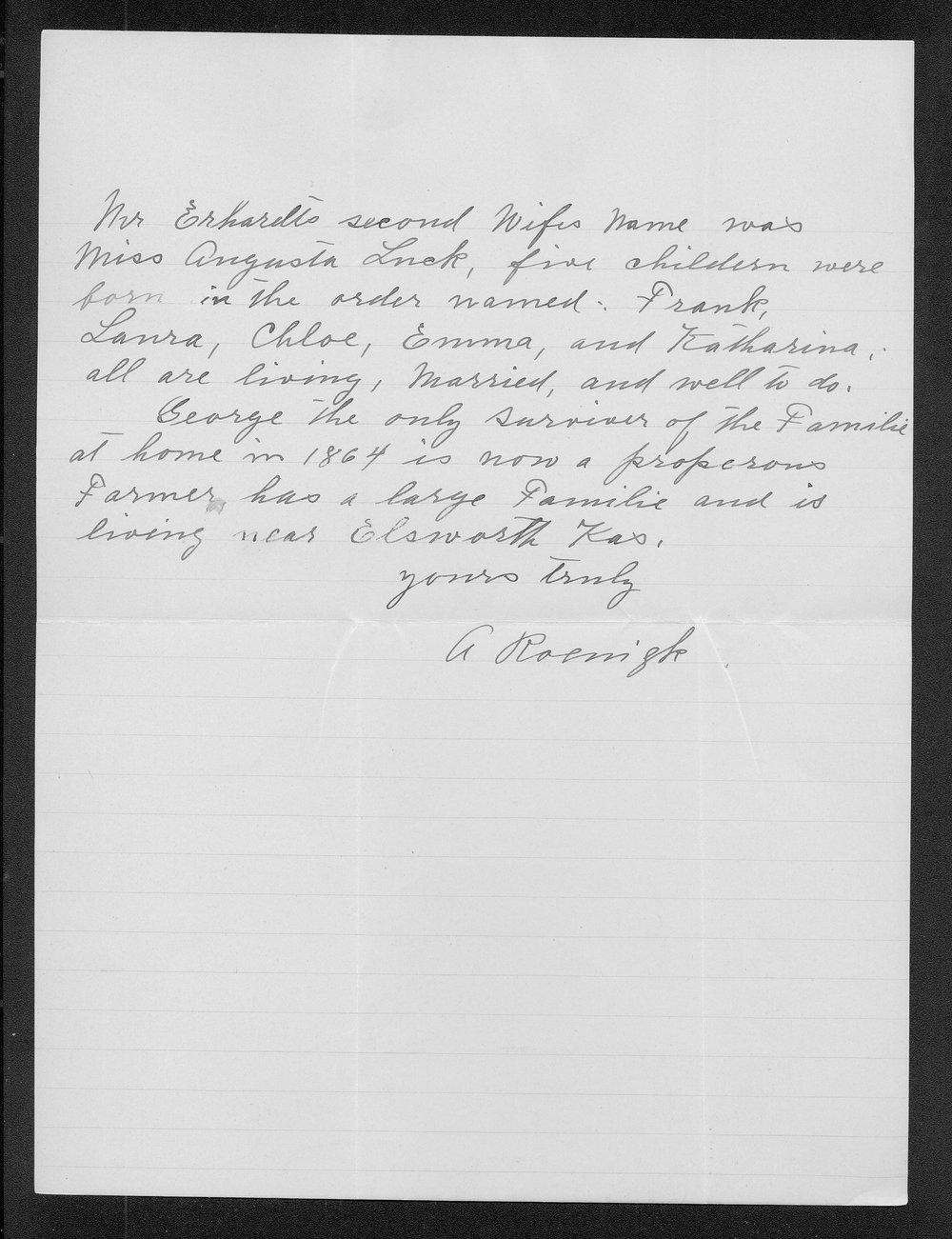 A. Roenigk to George W. Martin - 2