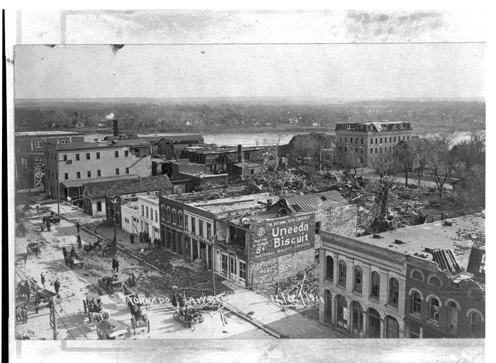 Tornado damage, Lawrence, Kansas - 3