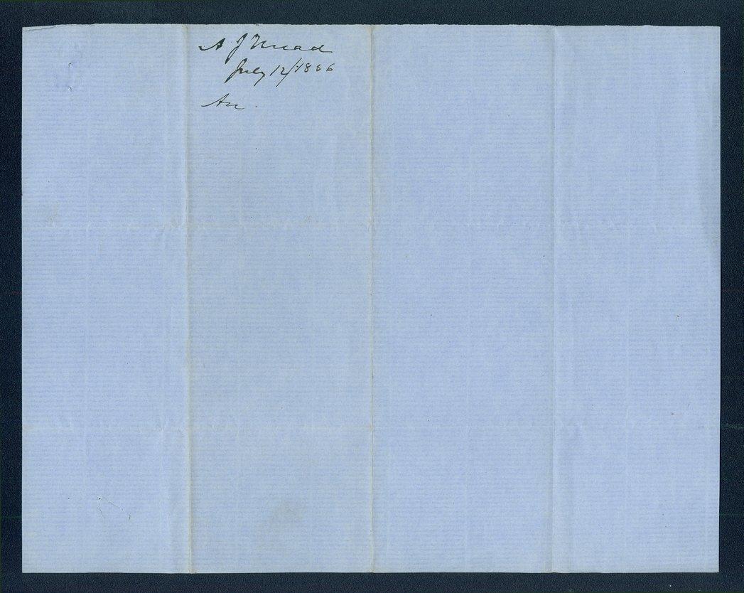Andrew J. Mead to John A. Haldeman - 2