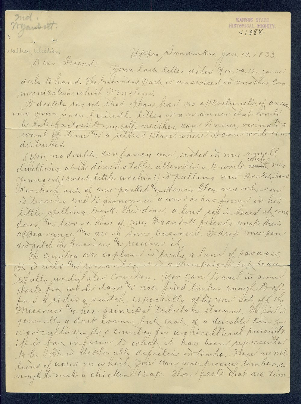 William Walker to G.P. Disosway - 1