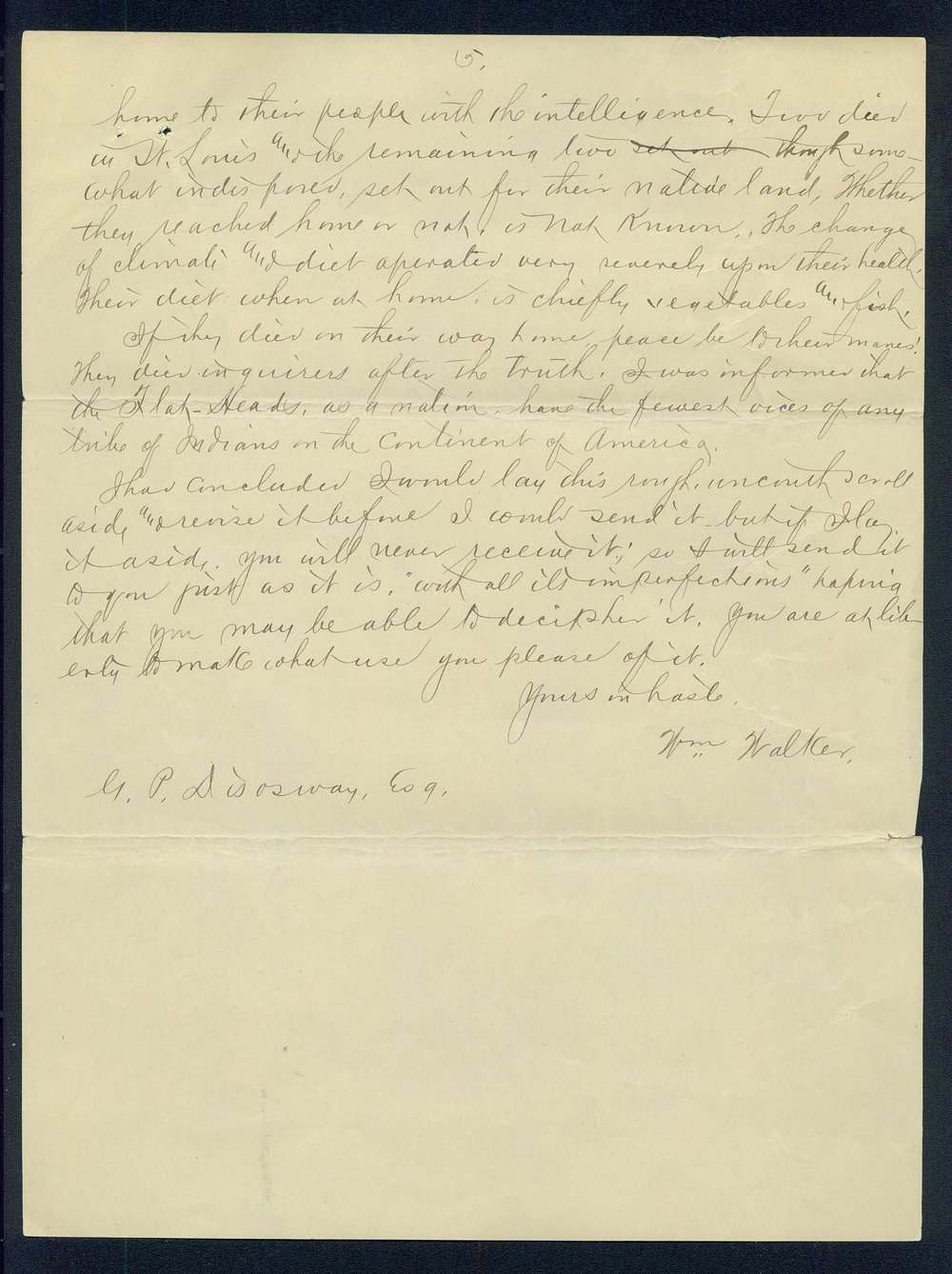 William Walker to G.P. Disosway - 5