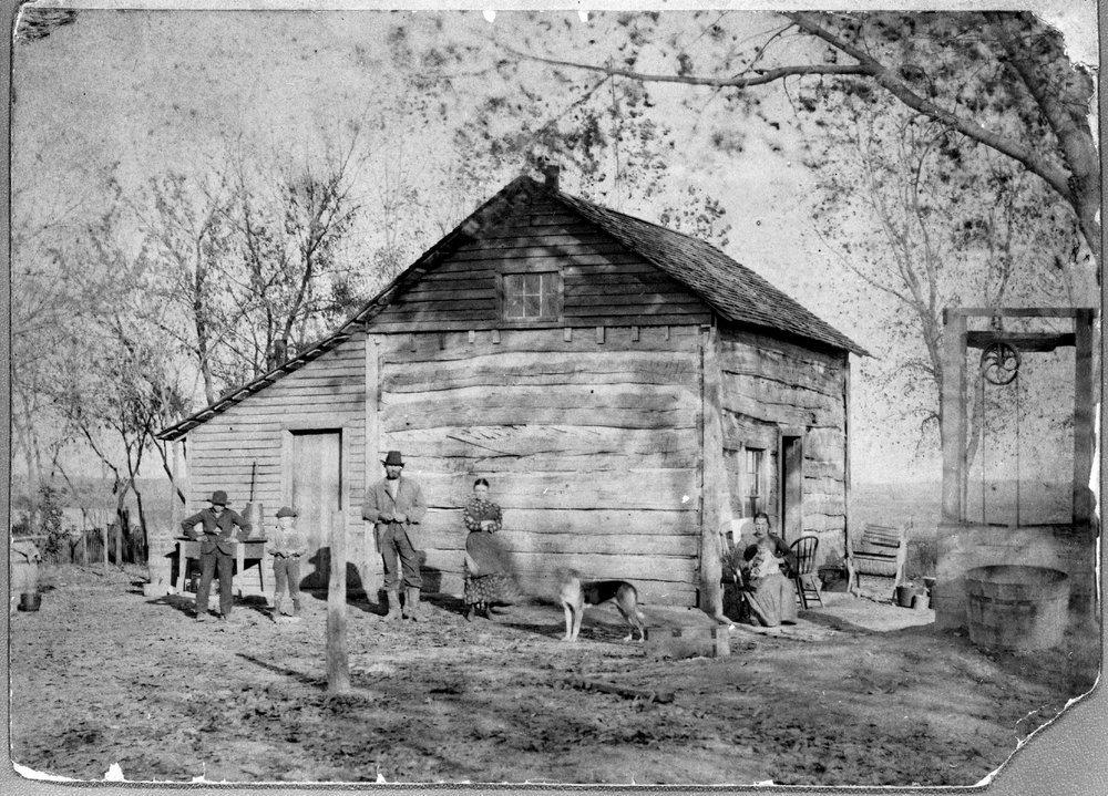 Humbargar log cabin, Saline County, Kansas