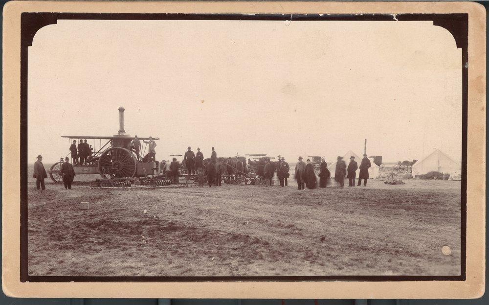 First steam plow in Garden City, Finney County, Kansas - 1