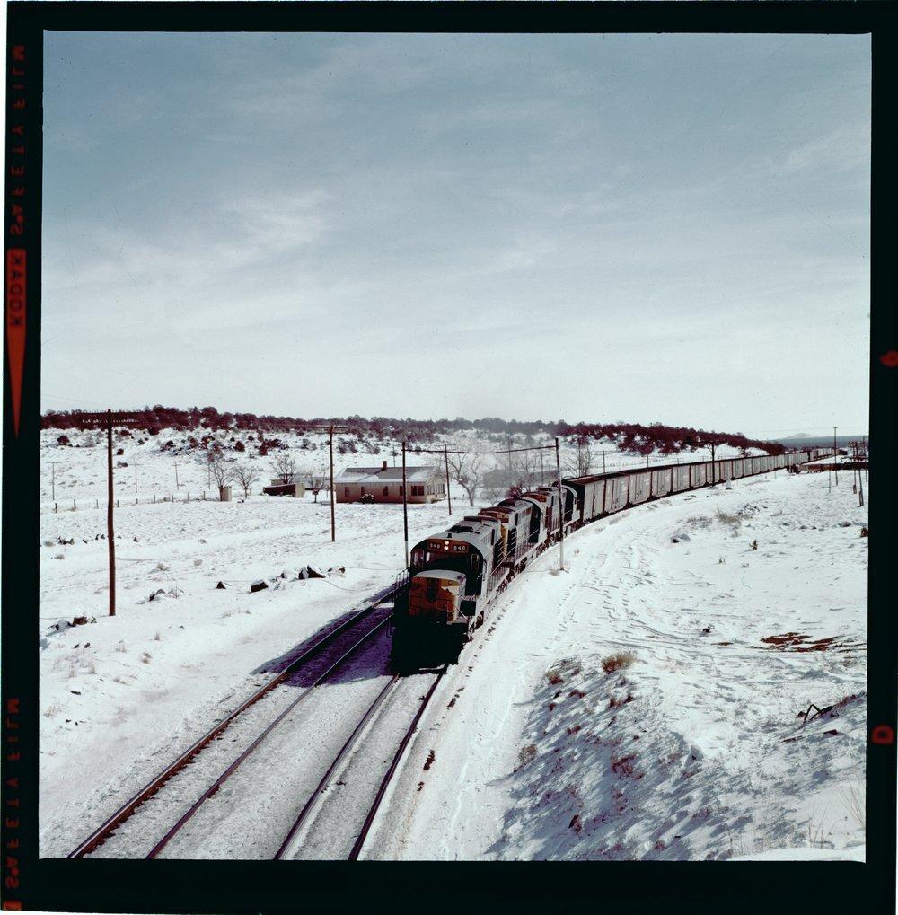 Atchison, Topeka & Santa Fe Railway Company freight train, Cosnino, Arizona