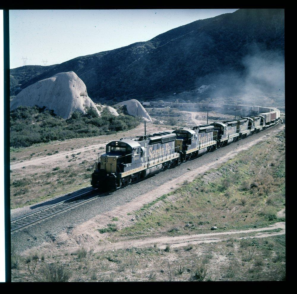 Atchison, Topeka & Santa Fe Railway Company freight train, Cajon Pass, California