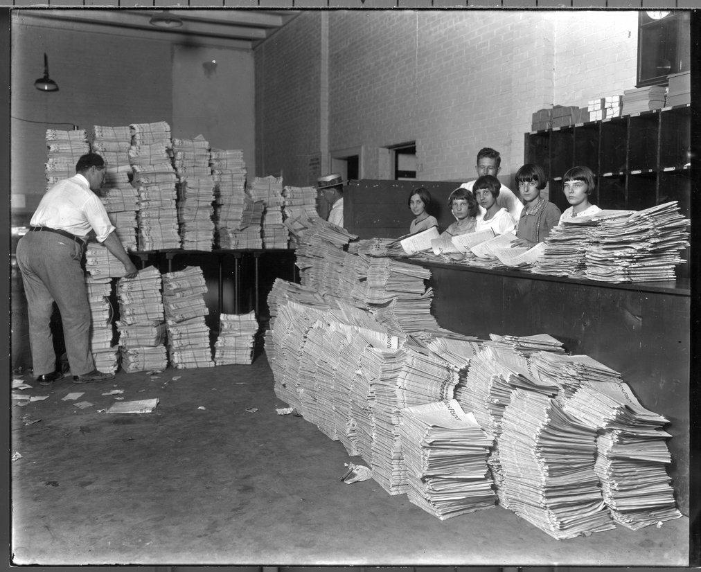 Newspaper circulation office, Iola, Kansas