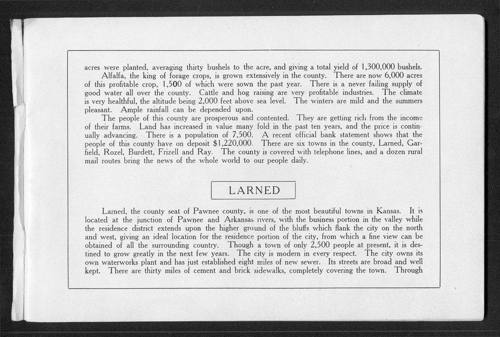 Souvenir of Larned and Pawnee County, Kansas - 6