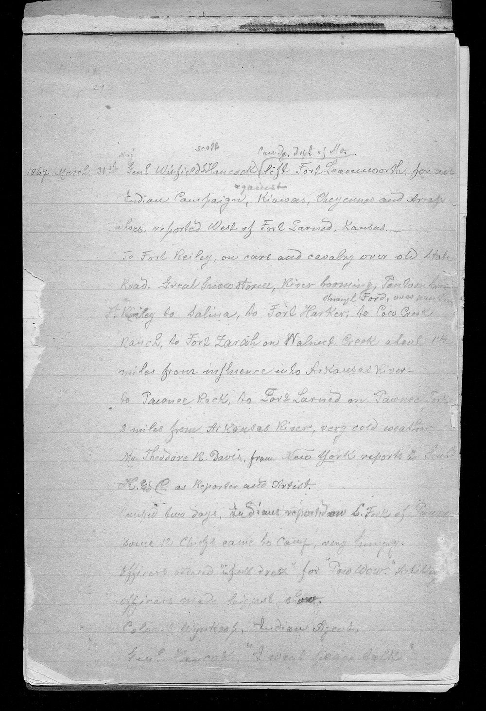 Hancock Campaign, March 1867 - 2