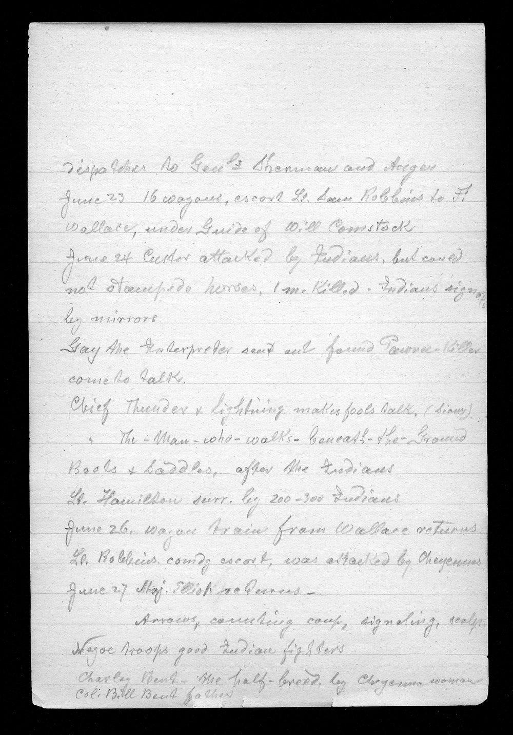 Hancock Campaign, March 1867 - 7
