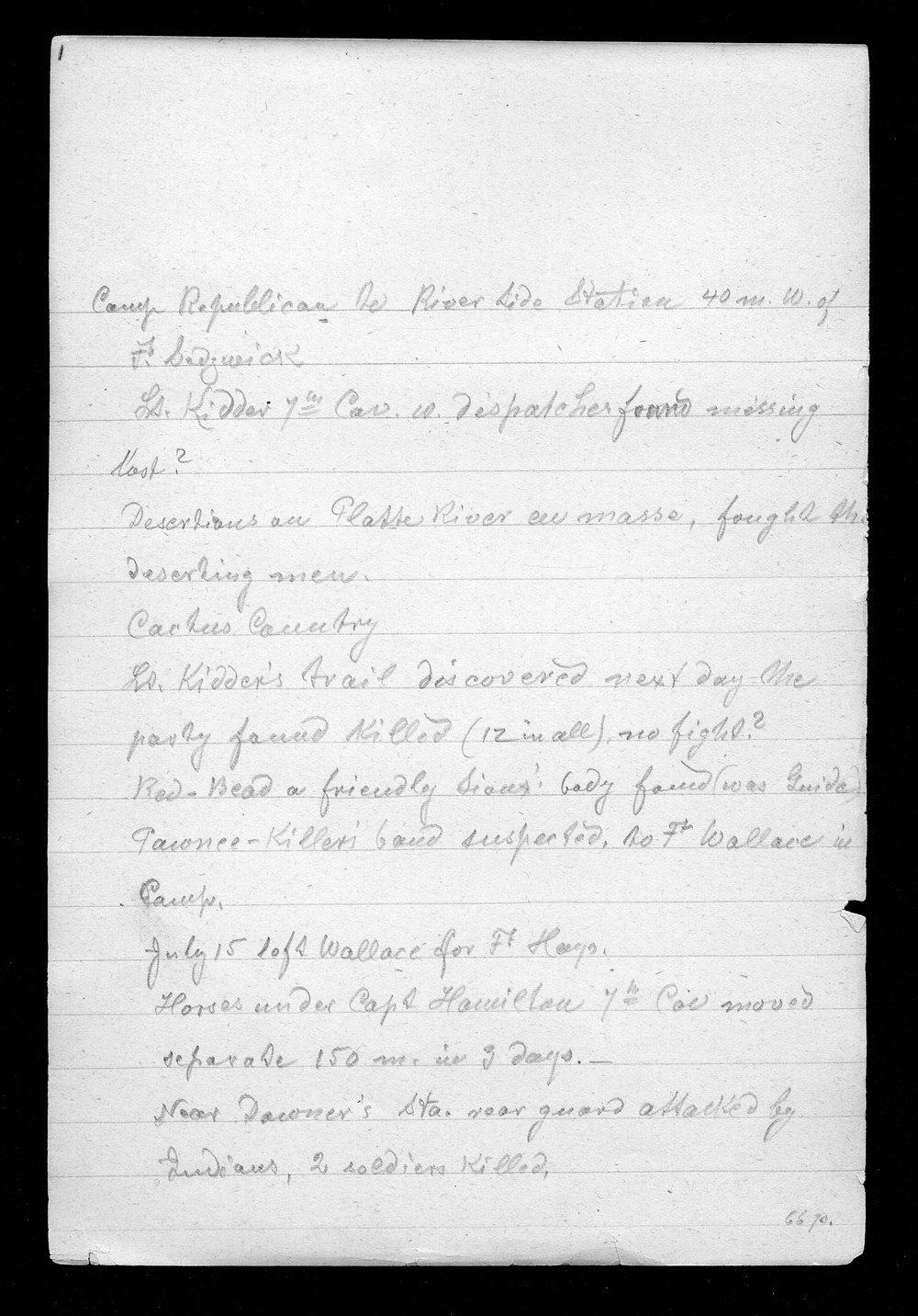 Hancock Campaign, March 1867 - 8