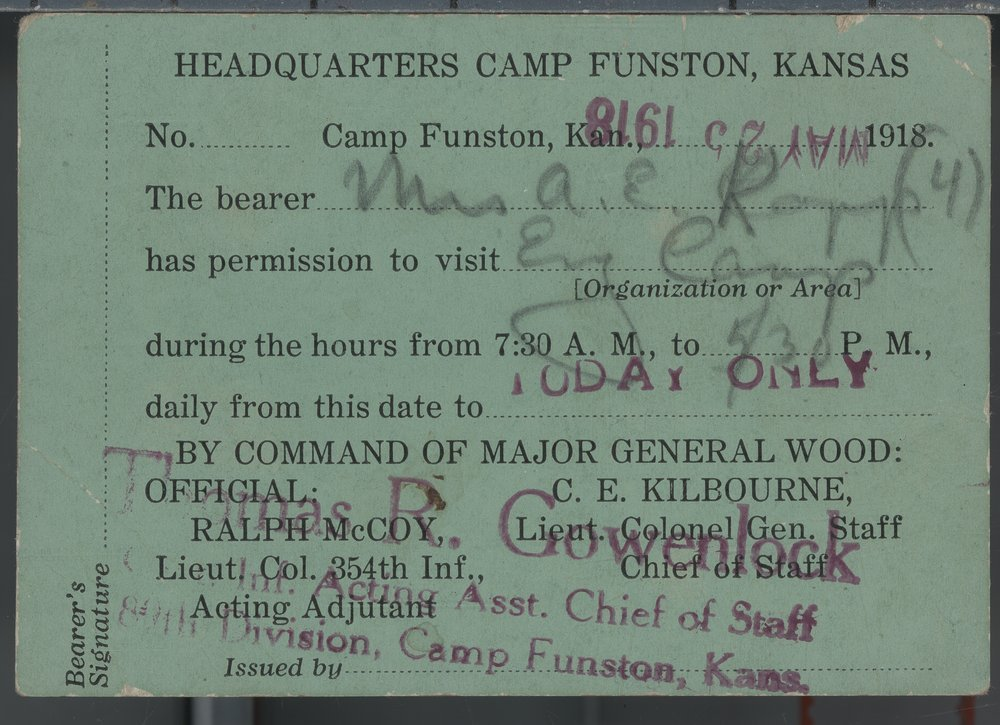 Walter C. Kopp, World War I documents - 3