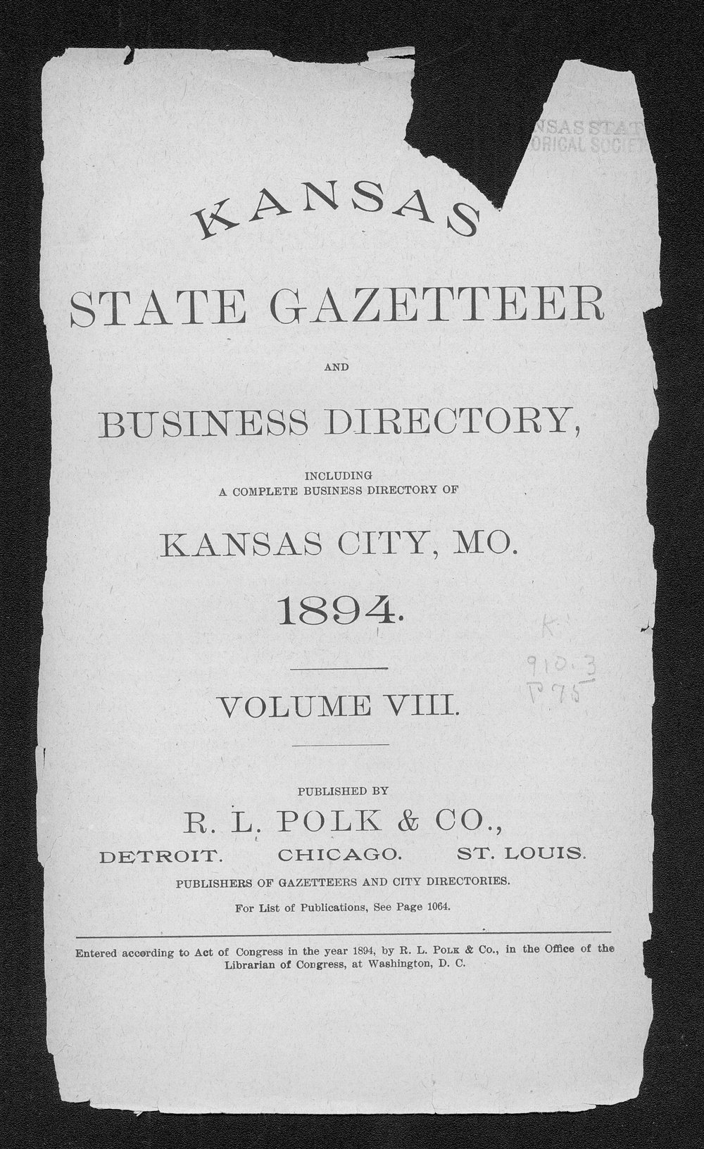 Polk's Kansas state gazetteer and business directory - 11