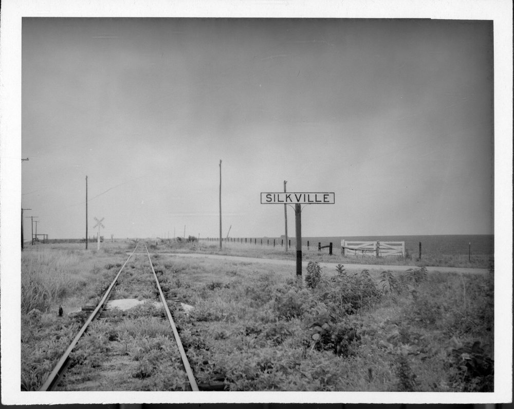 Atchison, Topeka and Sant Fe Railway Company sign board, Silkville, Kansas