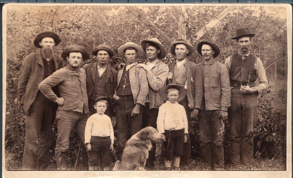 French farm laborers at Silkville, Kansas