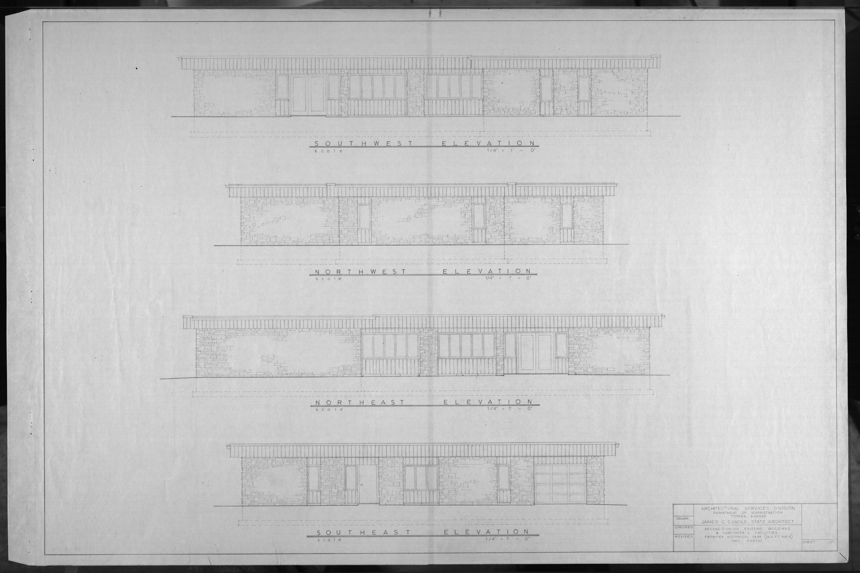 Architectural plans for Frontier Historical Park and Old Fort Hays - 7