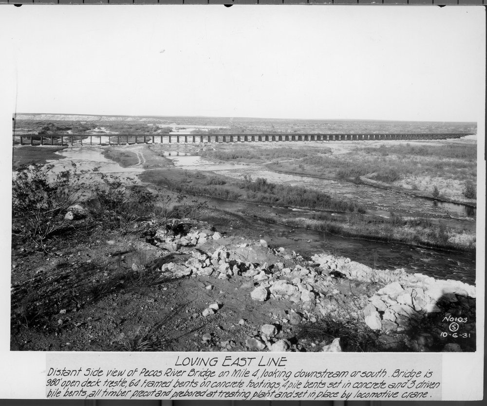 Atchison, Topeka & Santa Fe Railway Company bridge, Loving East Line, New Mexico