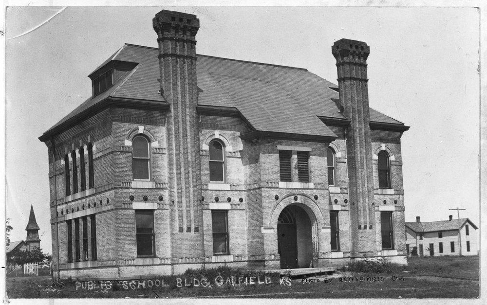 A public school, Garfield, Kansas