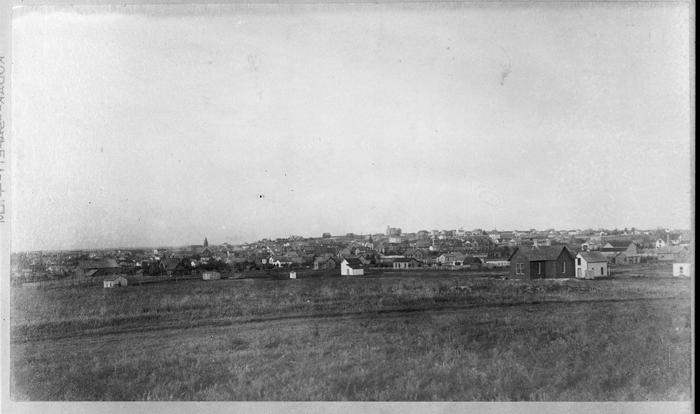 Larned, Kansas - Distant, more populated overview, Larned, c. 1885 (Photo No. 2)