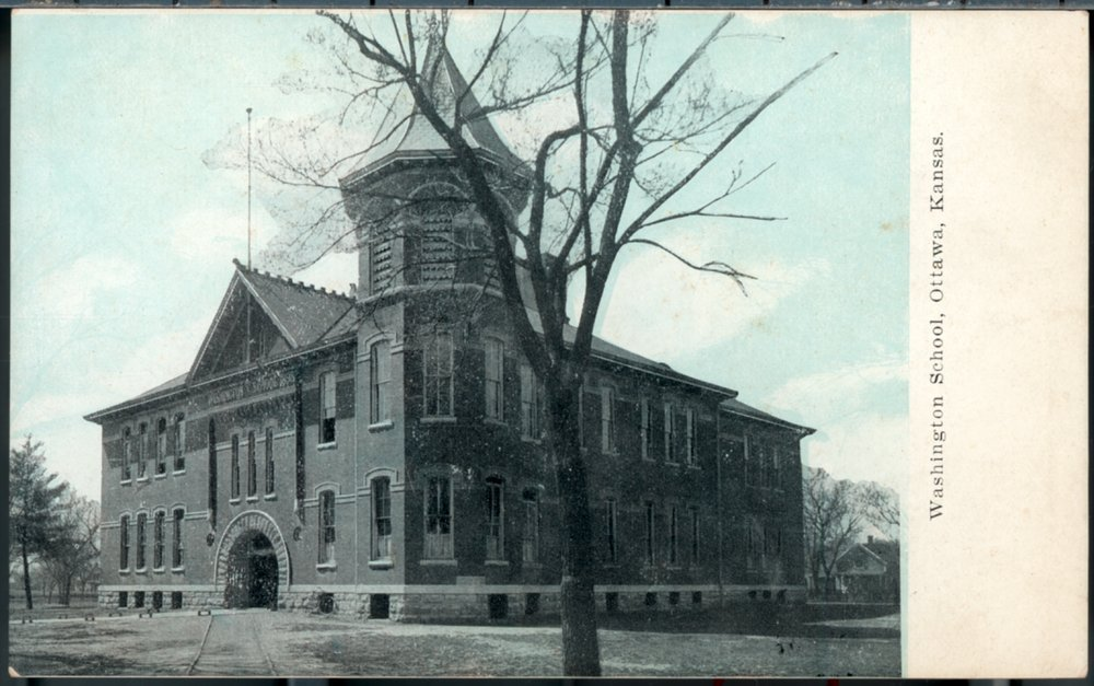 Three views of Washington School in Ottawa, Kansas - 1