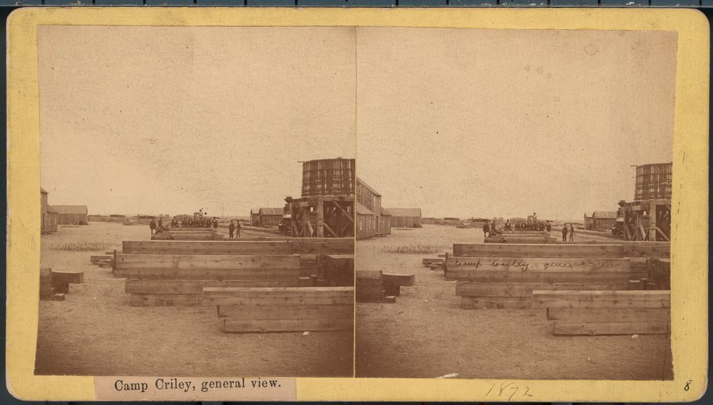 Camp Criley railroad material yard  in Pawnee County, Kansas - 1