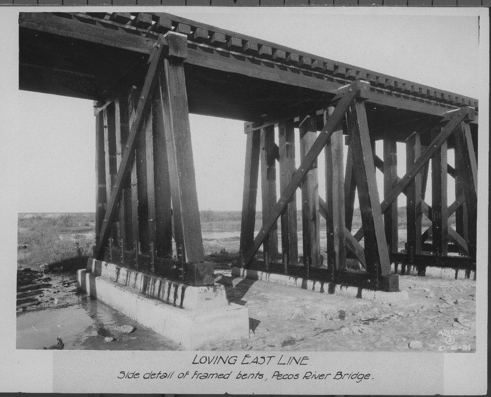 Atchison, Topeka & Santa Fe Railway Company bridge, Loving East Line, New Mexico - 1