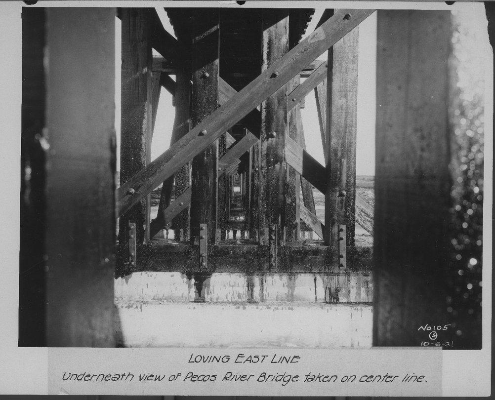 Atchison, Topeka & Santa Fe Railway Company bridge, Loving East Line, New Mexico - 2