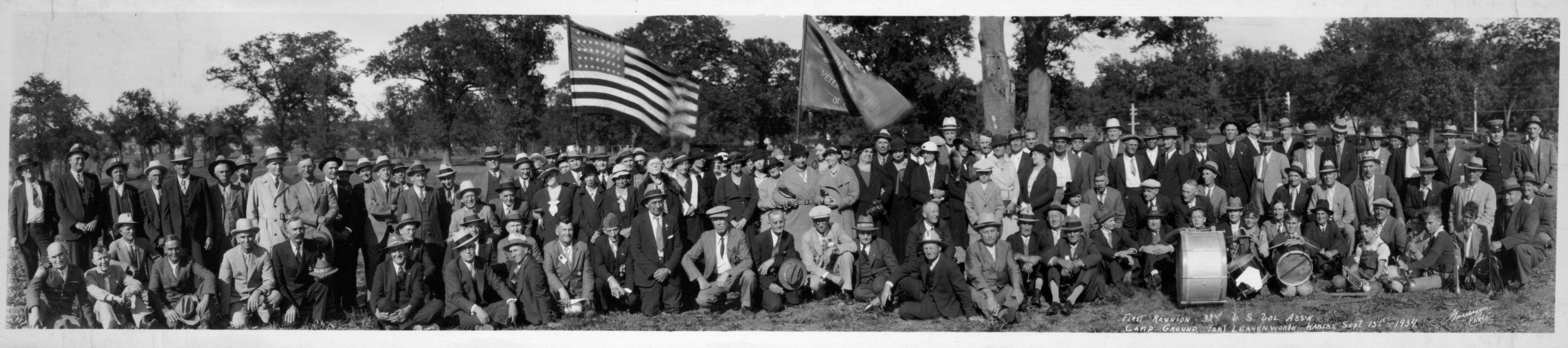 First reunion of the 32nd U. S. Volunteer Association, Fort Leavenworth
