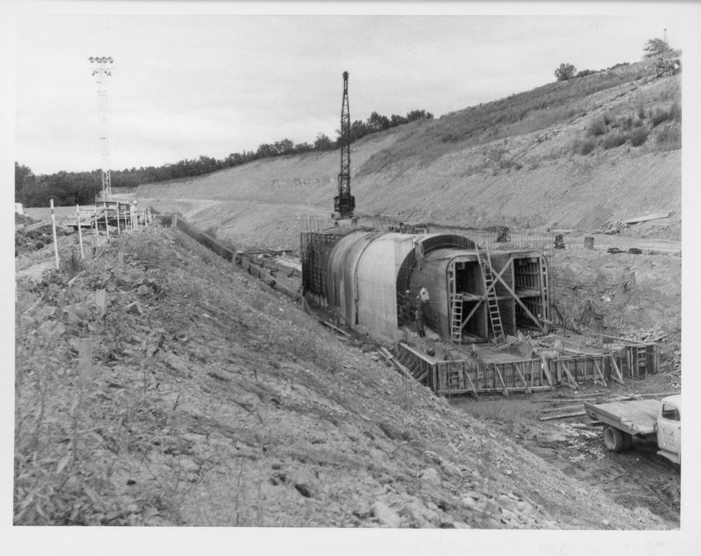 Construction of the Franklin County reservoir in Kansas - 1