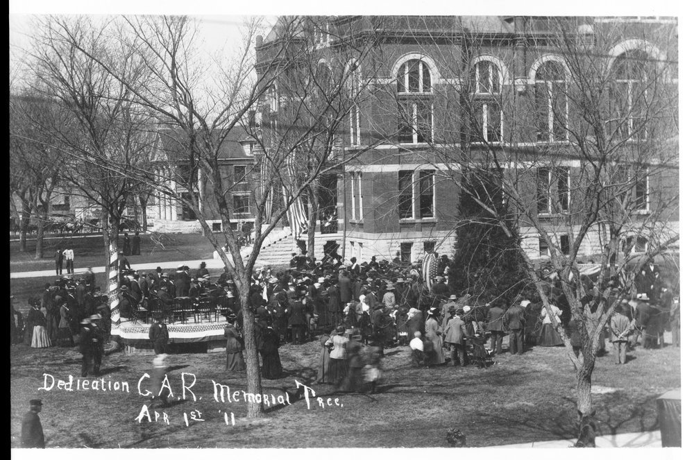 Dedication of the G.A.R. Memorial Tree, Ottawa, KS, 1911