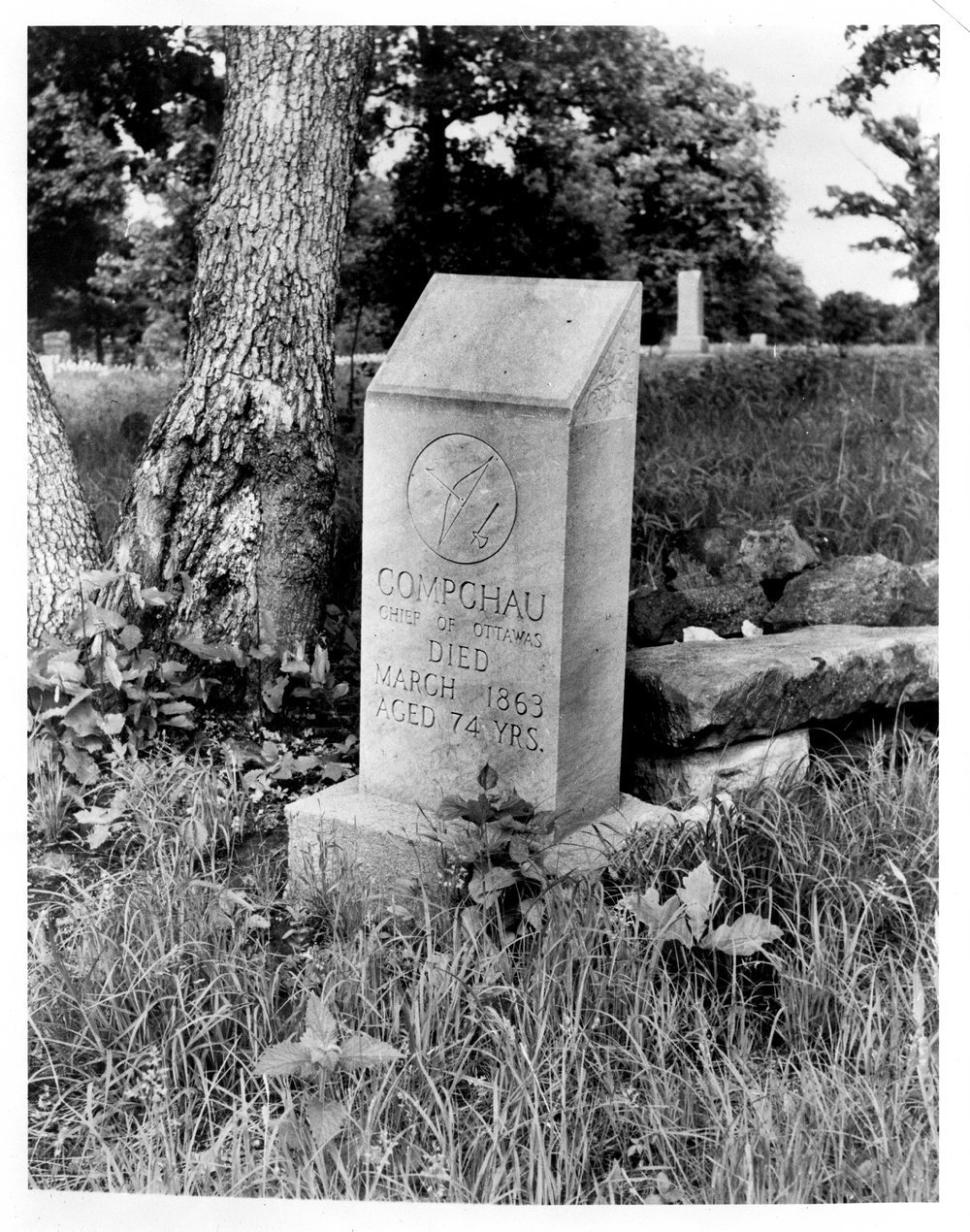 Gravestone of Chief Compchau