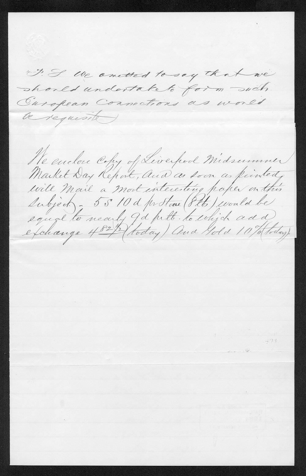 Governor Thomas Osborn immigration received correspondence - 3