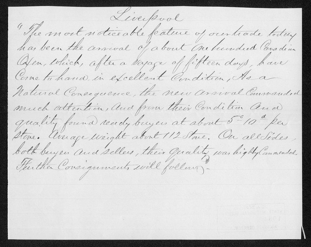 Governor Thomas Osborn immigration received correspondence - 4