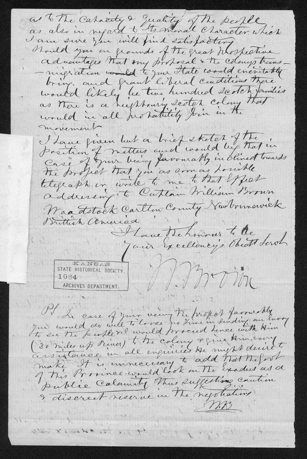 Governor Thomas Osborn immigration received correspondence - 7