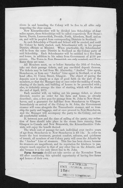 Governor Thomas Osborn immigration received correspondence - 11