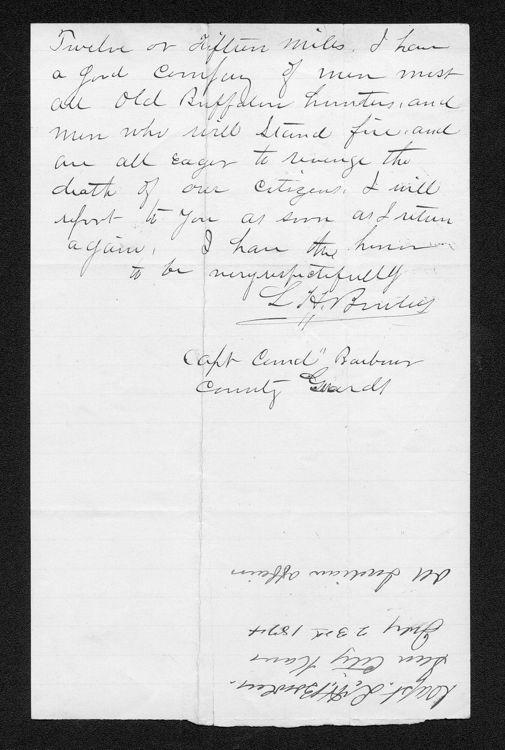 Governor Thomas Osborn Indian affairs received correspondence - 6