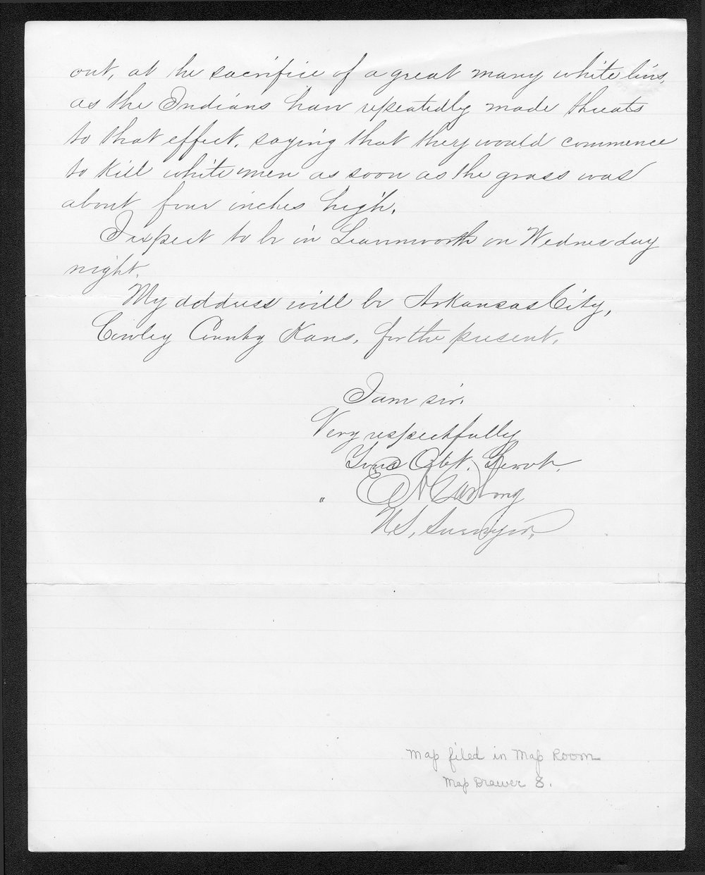 Governor Thomas Osborn Indian affairs received correspondence - 8